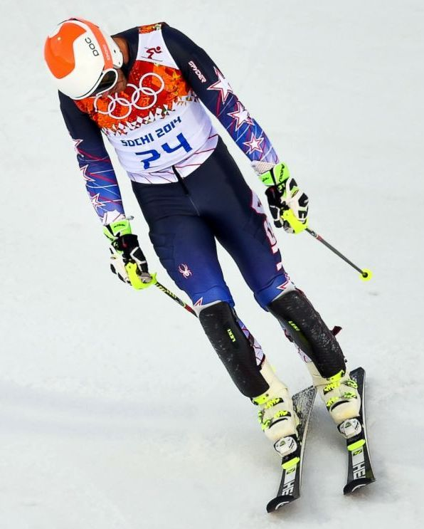 A disappointed Bode Miller...