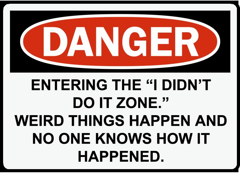 Danger zone copy